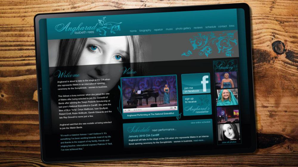 Soprano Singer Website Design