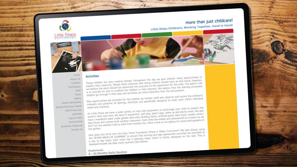 Childcare Nursery Web Design