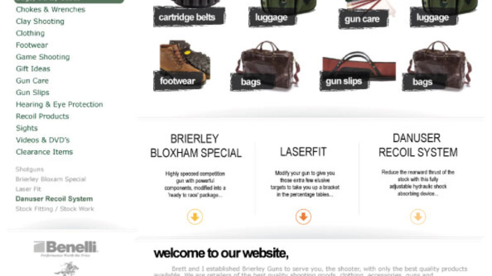 New web design for hunting/shooting online shop in West Midlands