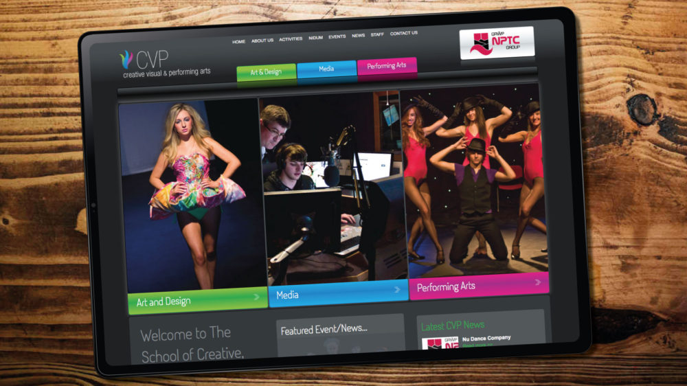 Performing Arts Bespoke Website