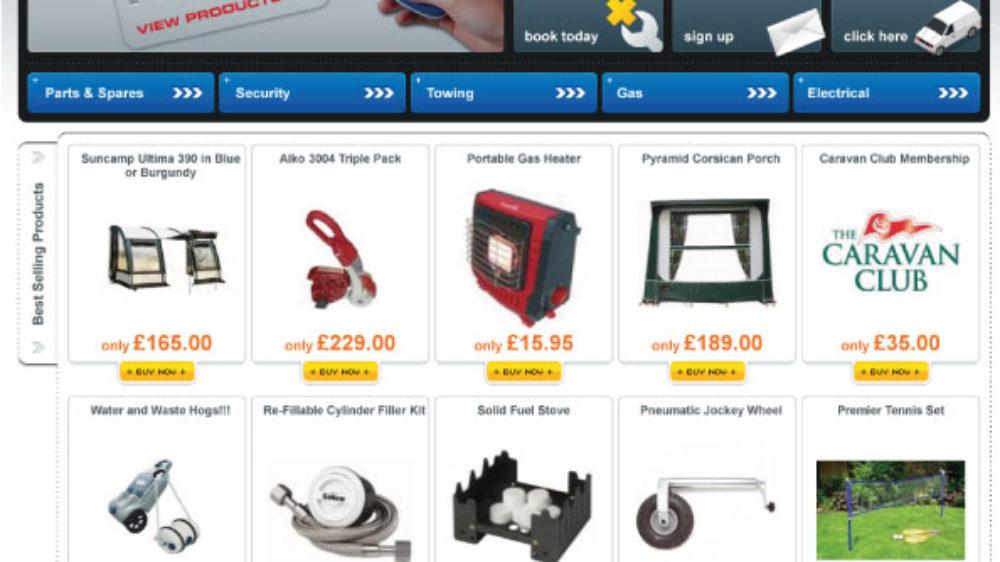eCommerce website designed for Caravan Team in Swansea