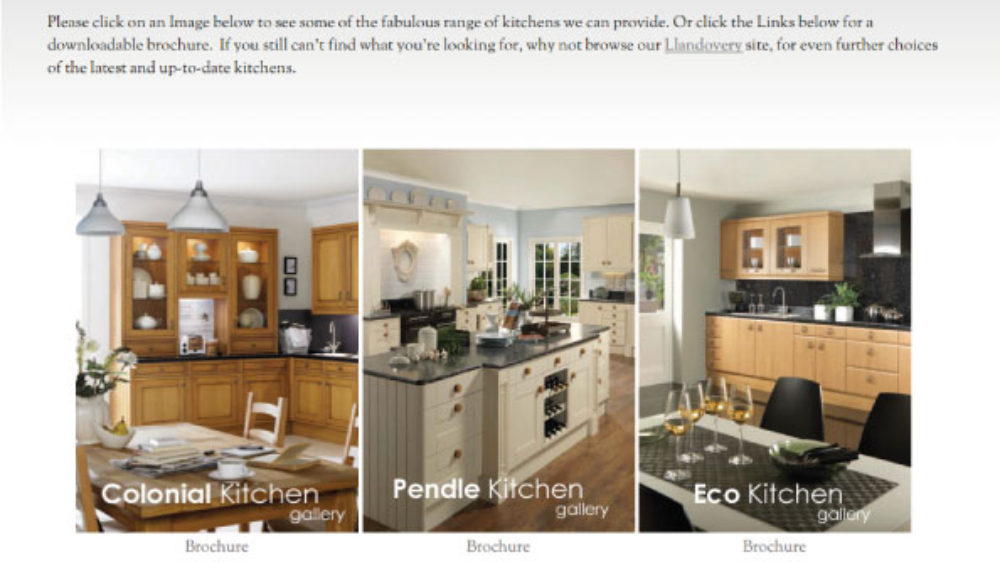 Elegant web design for high end kitchen designers in Neath, Swansea