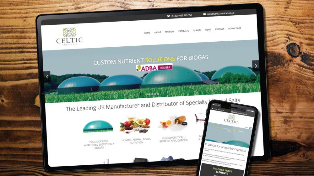 web design for chemical manufacturer in Bridgend