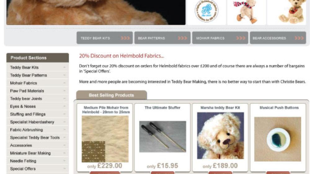 Ecommerce website designed for teddy bear business in Bridgend