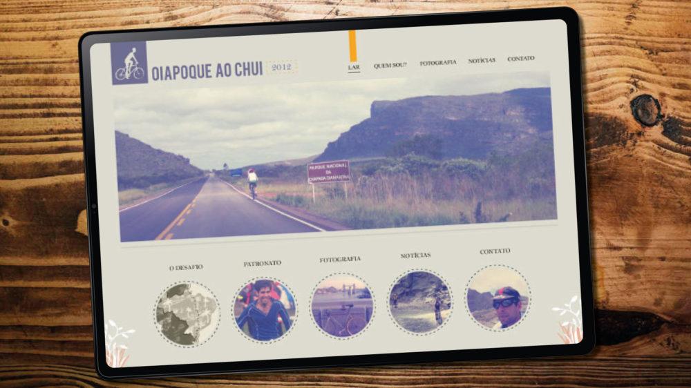 cycling tour website design