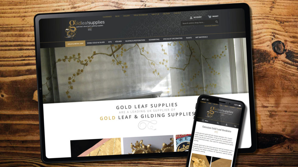 web design for gilding wholesale company in Bridgend