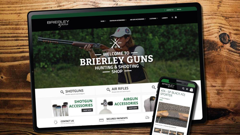 Gun Retailer Magento theme web designer