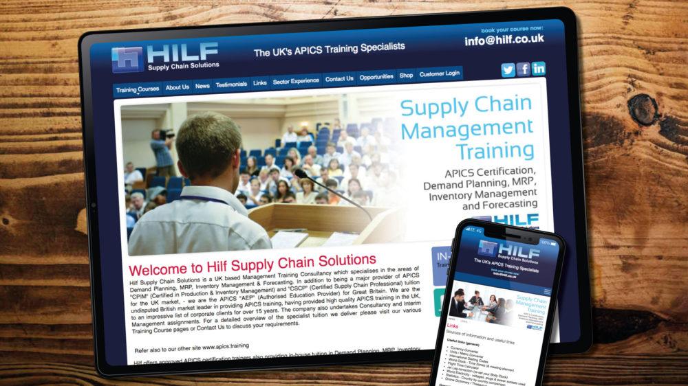 Web Design for Training Company in Bridgend