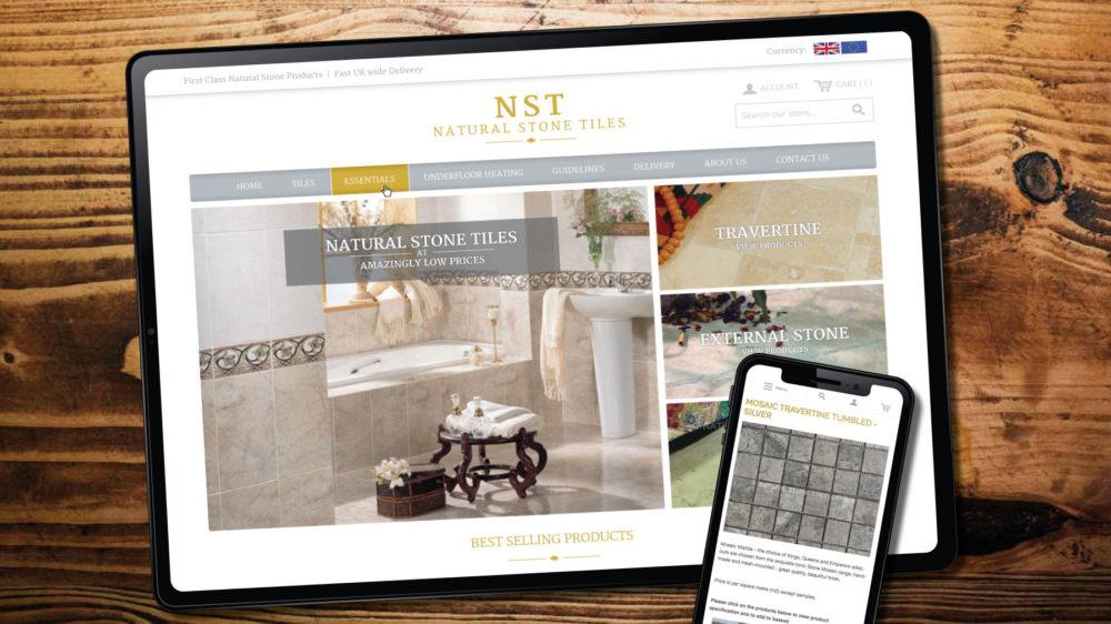 New web design for Tiles R Us Magento website in Bridgend