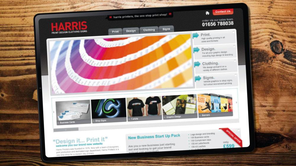 Web design for printing company, Porthcawl, Bridgend