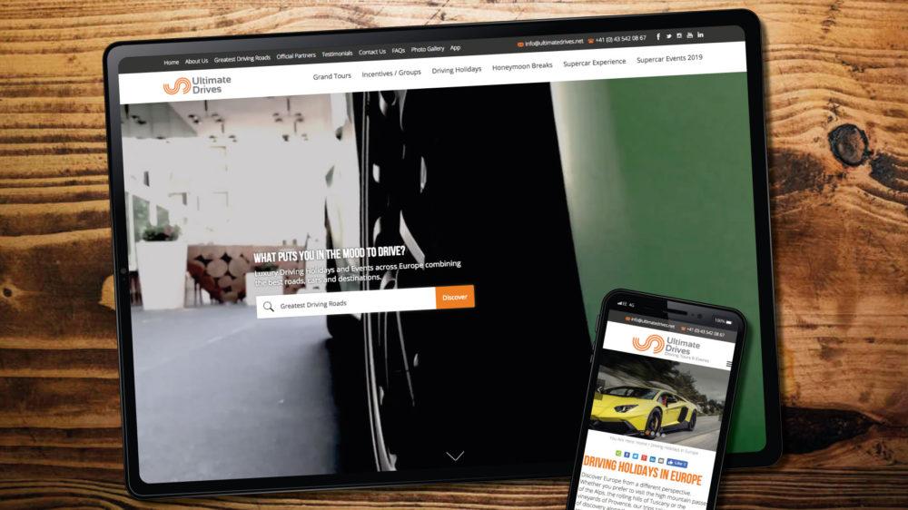 custom web design for performance car company