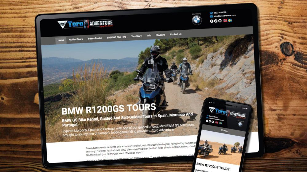 web design for motorcycle company, London