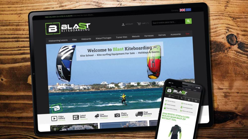 web design for surf website, Porthcawl
