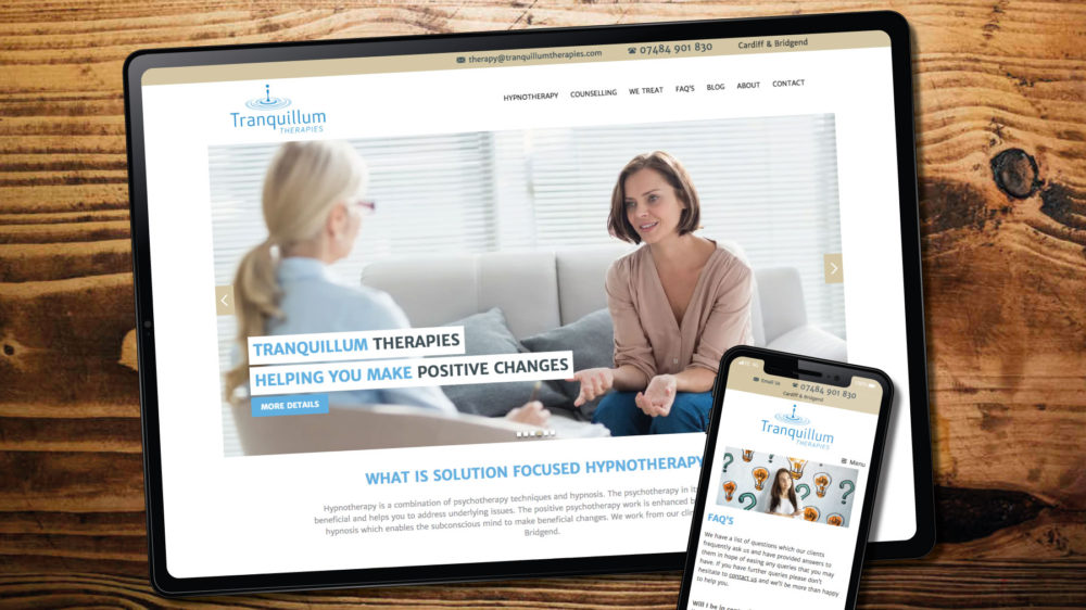 Custom WordPress theme for therapist in Bridgend