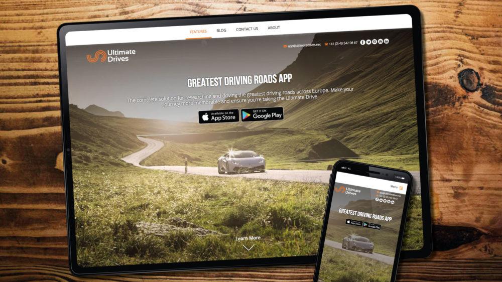 Custom WordPress theme for ultimate app website