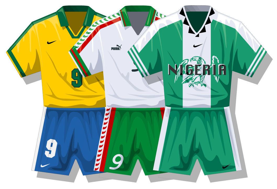 Infographics of football kit